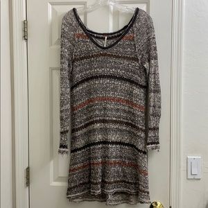 Free People open back long sleeve tunic small